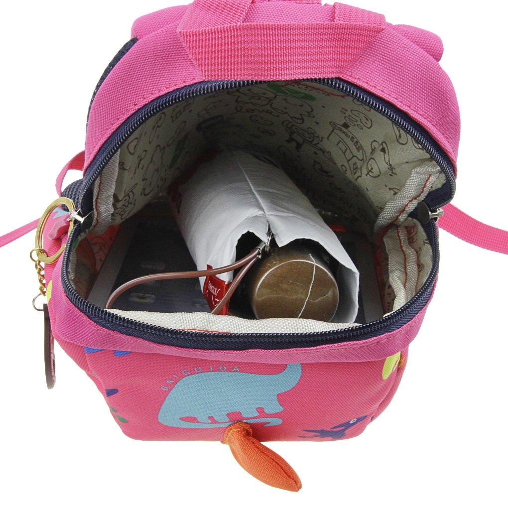 Toddler Safety Harness BackpackKids Walker Daypack Cartoon DinosaurRucksack Baby Prevent Lost Walking Shoulder Bag Preschool School Bag for Boys Girls Zoo Park Kindergarten Nursery Travel Bag by JIAHG (Image #6)