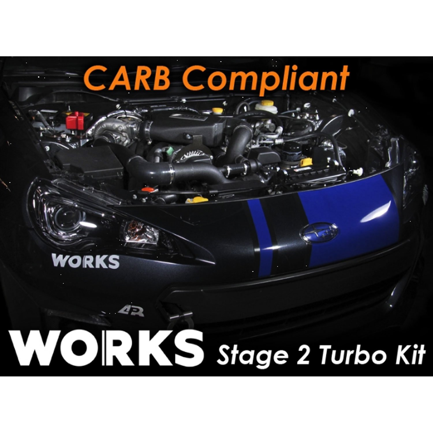 Amazon.com: Works 142.211 Stage 2 Turbo Charger Complete Kit with CARB Tune for 2013-2017 Subaru BRZ/Scion FR-S with Manual Transmission: Automotive