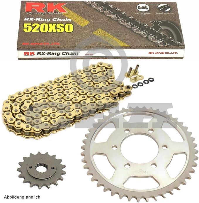 Kettensatz Geeignet Für Yamaha Yfm 660 R Raptor 01 05 Kette Rk Gb 520 Xso 92 Offen Gold 13 40 Auto