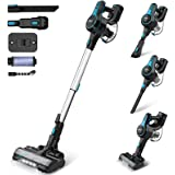 INSE Cordless Vacuum Cleaner Powerful Suction, 6-in-1 Lightweight Handheld Stick Vacuum, Up to 45 Mins Runtime, with Quiet Re