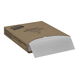 """Georgia-Pacific Dixie HS1000 White Handi Size Greaseproof Pan Liner, 16.38"""" Length x 12.19"""" Width (Case of 1000)"""