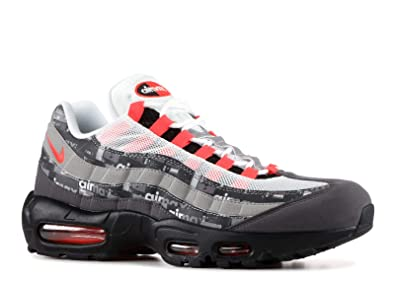 Nike Air Max 95 PRNT Aq0925 002 Size 7.5 Black, Bright Crimson