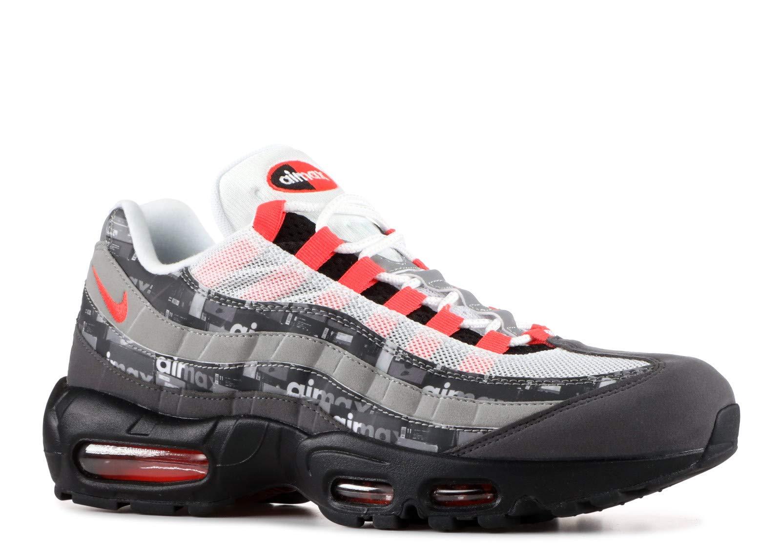 4ed2679b58 Galleon - Nike Air Max 95 PRNT - Aq0925-002 - Size 6.5 Black, Bright Crimson