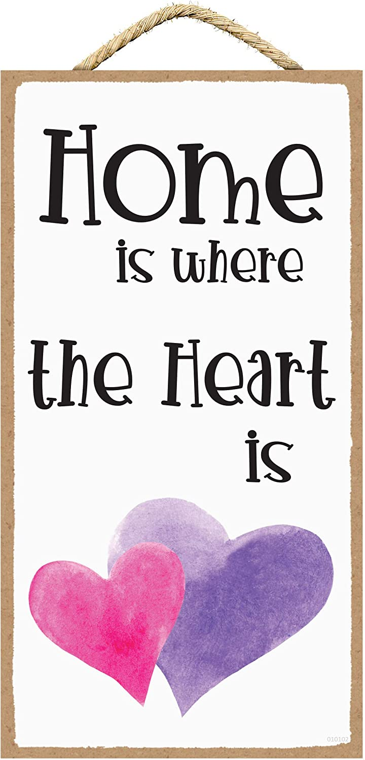 SARAH JOY'S Home is Where The Heart is - Home is Where The Heart is Wall Decor - Home Signs for Home Decor - Home Wall Decor Sign