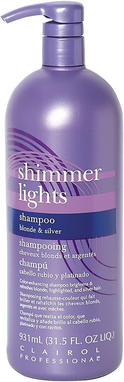 Clairol Shimmer Lights Champú Rubio & Plateado 930 ml (Paquete de 3)