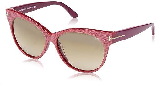 5b0868074c8 Tom Ford FT0330 77G Saskia Oval Sunglasses - Red Cyclamen Frame ...