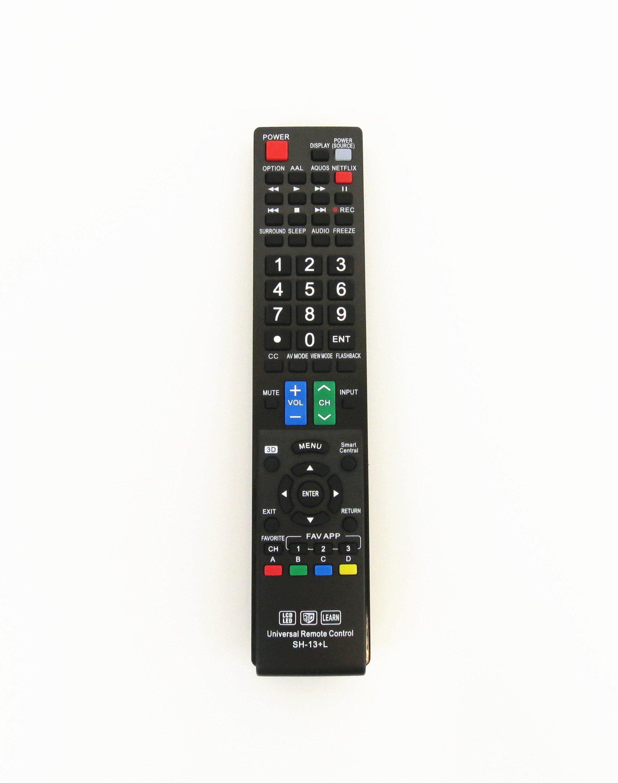 Gvirtue Universal Remote Control Compatible Replacement for Sharp Smart TV/HDTV/ 3D/ LCD/LED, GA935WJSA GA806WJSA GA840WJSA GA480WJSB GB004WJSA GB118WJSA GB004WJSA GB005WJSA GJ221-C GJ221-R