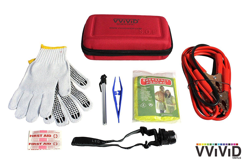 VViViD Roadside Emergency Safety Kits (Deluxe Emergency Kit)