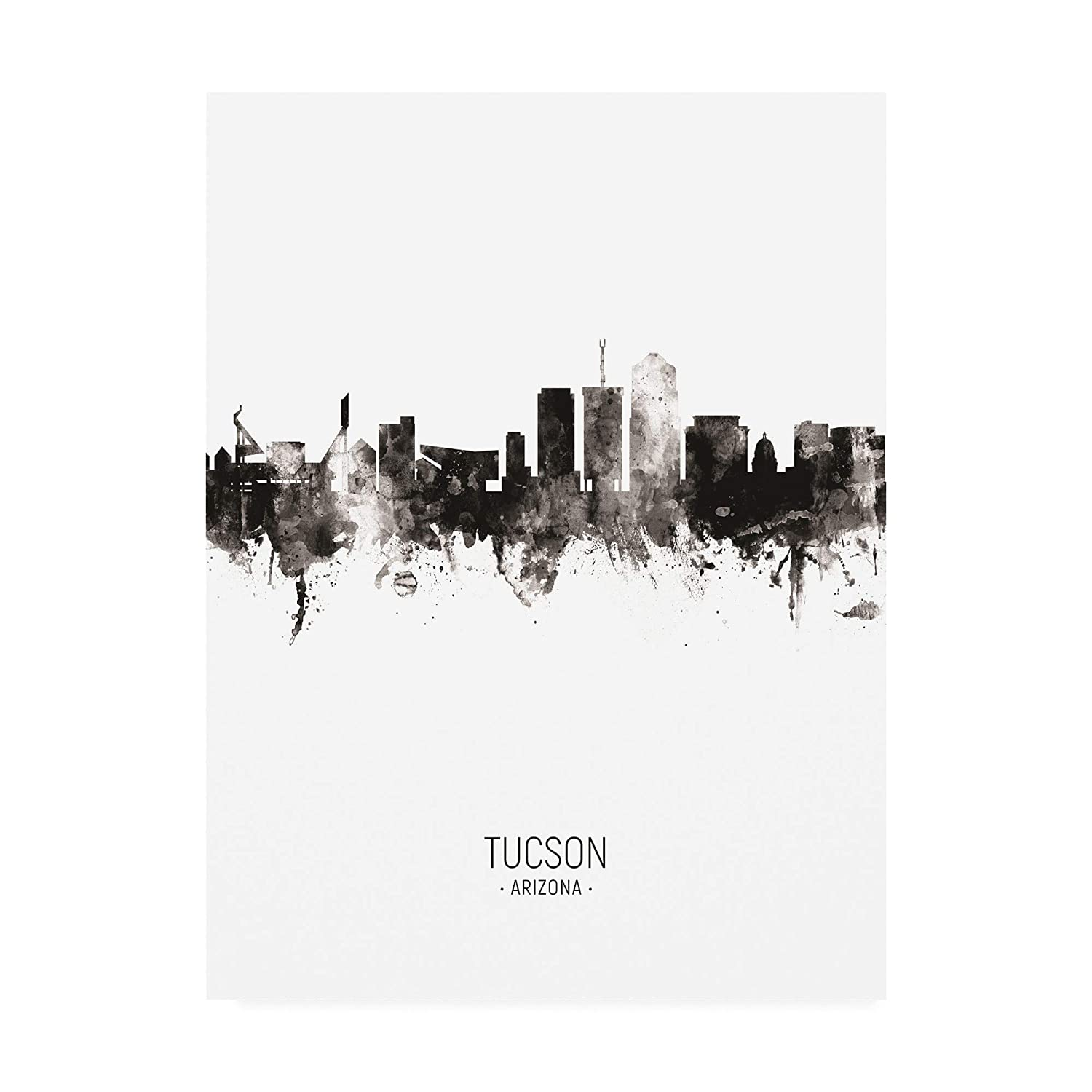 Trademark Fine Art Tucson Arizona Skyline Portrait II