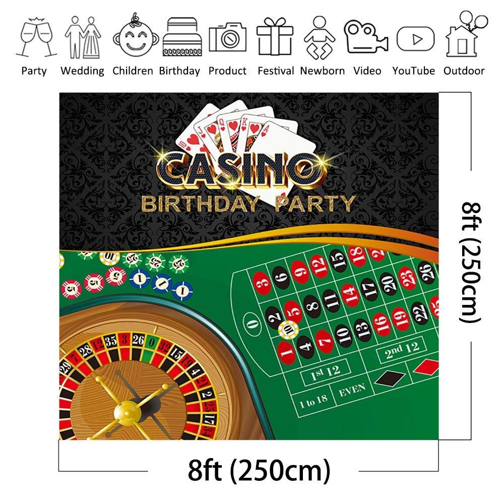 COMOPHOTO Fondo para Fiesta de cumpleaños de Casino para ...