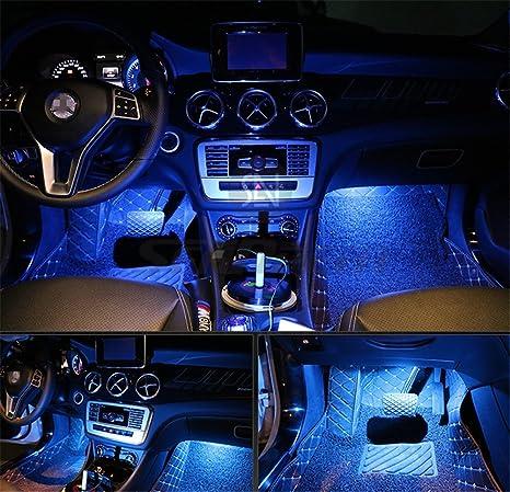 Lampadine Led Auto Interni.Kit Di 4 Luci Led Per Interni D Auto Da Posizionare Sotto Il Cruscotto Con Adesivo 3m Luci D Atmosfera Price Xes