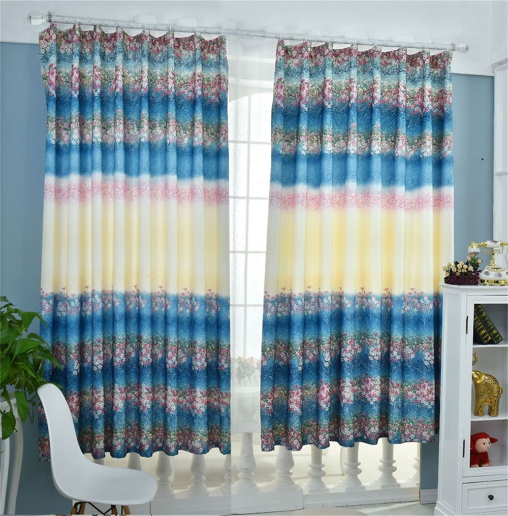 TIANTA- A Set Of 2 Pcs Bedroom Living Room Balcony Thickening Shading Imitation Cotton Linen Curtain Double-sided Pattern Simple Modern Finished Product decorate ( Size : 2.92m (widthheight) )