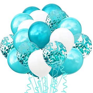 TOPWINRR Decoracion Globos Cumpleaños Ninos Látex Globos Bodas Confeti Adulto Globos Baby (TF Azul)