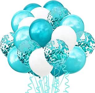 TOPWINRR Decoracion Globos Cumpleaños Ninos Látex Globos Bodas Confeti Adulto Globos Baby (TF Azul): Amazon.es: Juguetes y juegos