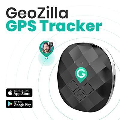 GeoZilla GPS Location Tracker for Kids Elderly Pets Dogs Luggage | Utilizes Cellular, WiFi and GPS | Accurate and Lightweight | SIM Card and 30 Days Free Service Plan Included: GPS & Navigation