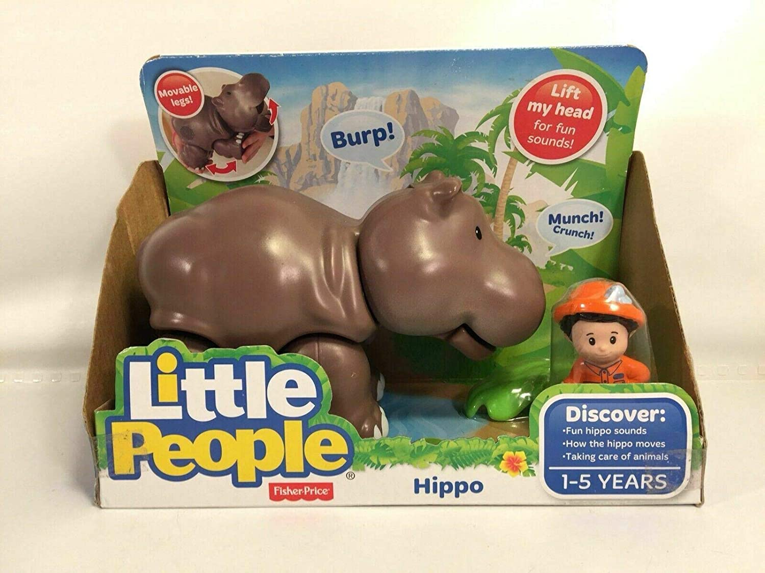 Amazon com : Fisher Price Little People Zookeeper Hippo Big