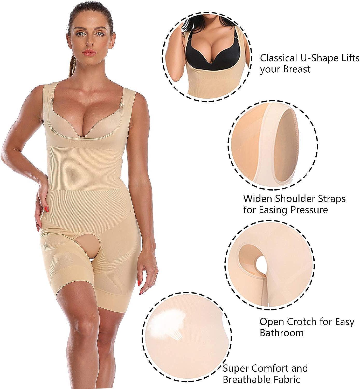POP CLOSETS Women Full Body Shapewear Waist Trainer Cincher Corset Tummy Body Shaper Control Thigh Slimmer Bodysuit