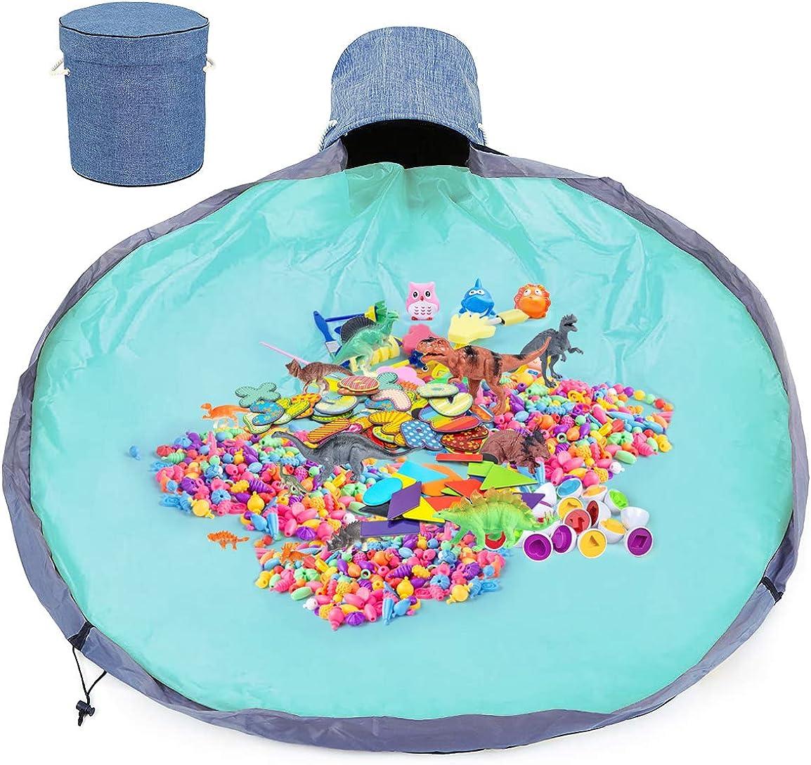 Refasy Play Mat and Toy Storage Organizer Baskets Storage Bins Toy Organizer for Kids Room