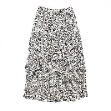 DAHDXD Nueva Cintura Alta Falda de Las Mujeres de Moda Casual ...