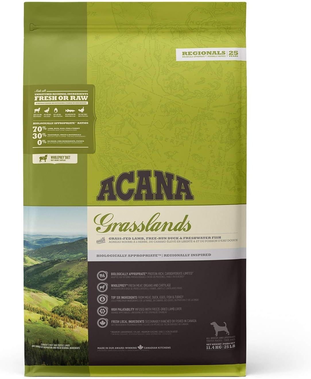 ACANA Grasslands Comida para Perros - 11400 gr