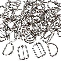 100 Piezas Hebillas Metal Tri-glide Ajustan Deslizante Metal