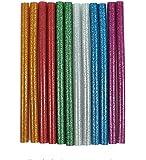 A.S ENTERPRISES Hot Melt Multi Purpose Glittery Glue Stick Multicolor (Golden, Green, Blue, Silver, Pink, White, Red) - Pack of 10