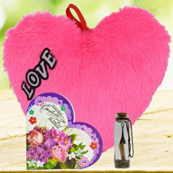ME & YOU Multicolour Greeting Card with Message Bottle; Heart for Wife; Girl-Friend; Fiance on Valentines Day; Birthday; Anniversary and Any Special Occasion