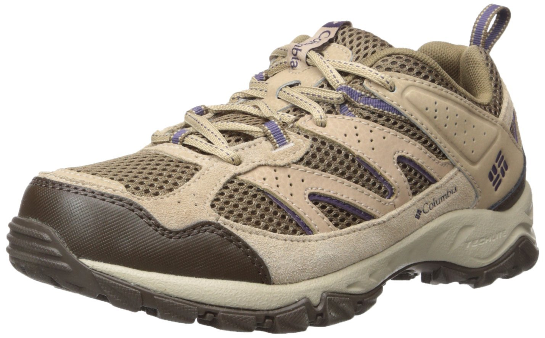 Columbia Women's Plains Ridge WMNS Trail Shoe, Saddle/Quill, 10 B US