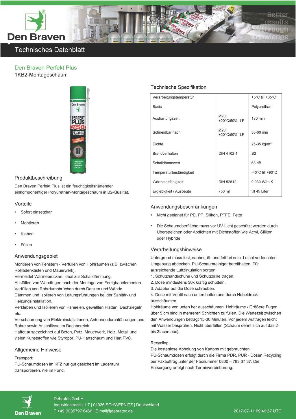 Den Braven Set profesional con 3 x 500 ml Lata Espuma de montaje perfecto Plus 500 1 K B2 - Beige, listo para usar, fabricado en Alemania: Amazon.es: ...