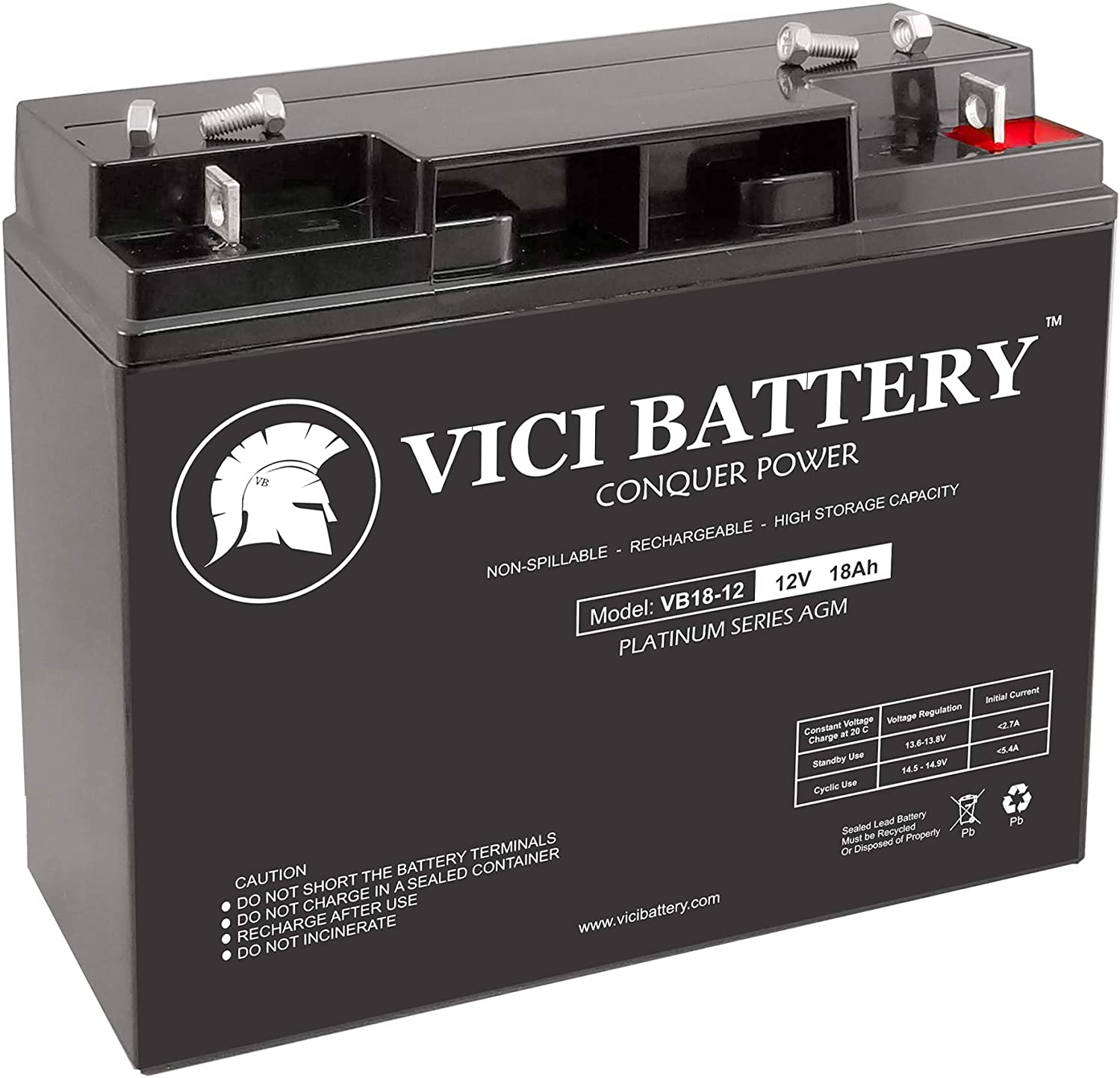 12V 7AH Version National Battery NB12-9HR Replacement by VICI Battery Brand