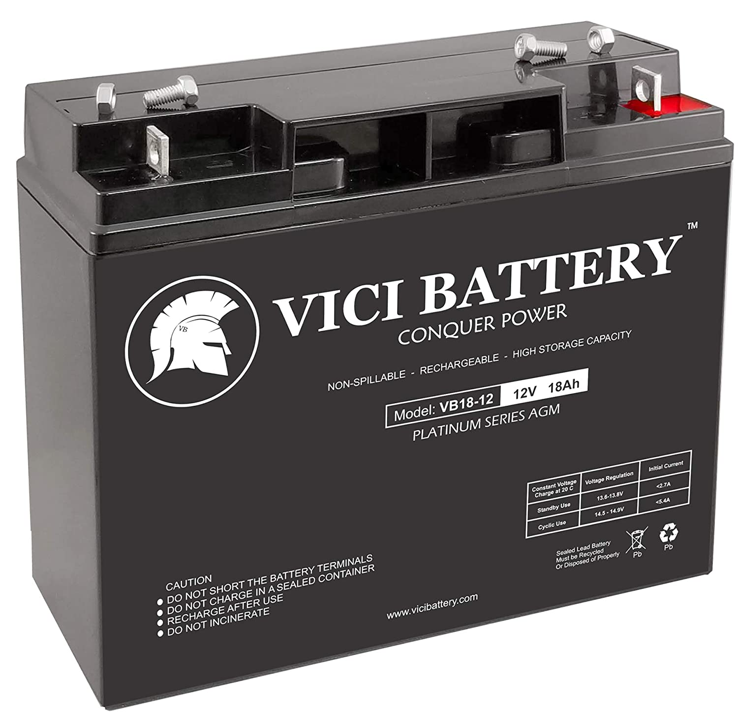 12v 18ah Battery >> Amazon Com Vici Battery Vb18 12 12v 18ah Replacement For Coopower