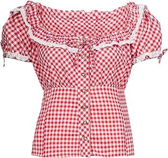 Costumes Chemisier pour femmes Costumes Pantalon cuir le costume traditionnel Rouge//carreaux