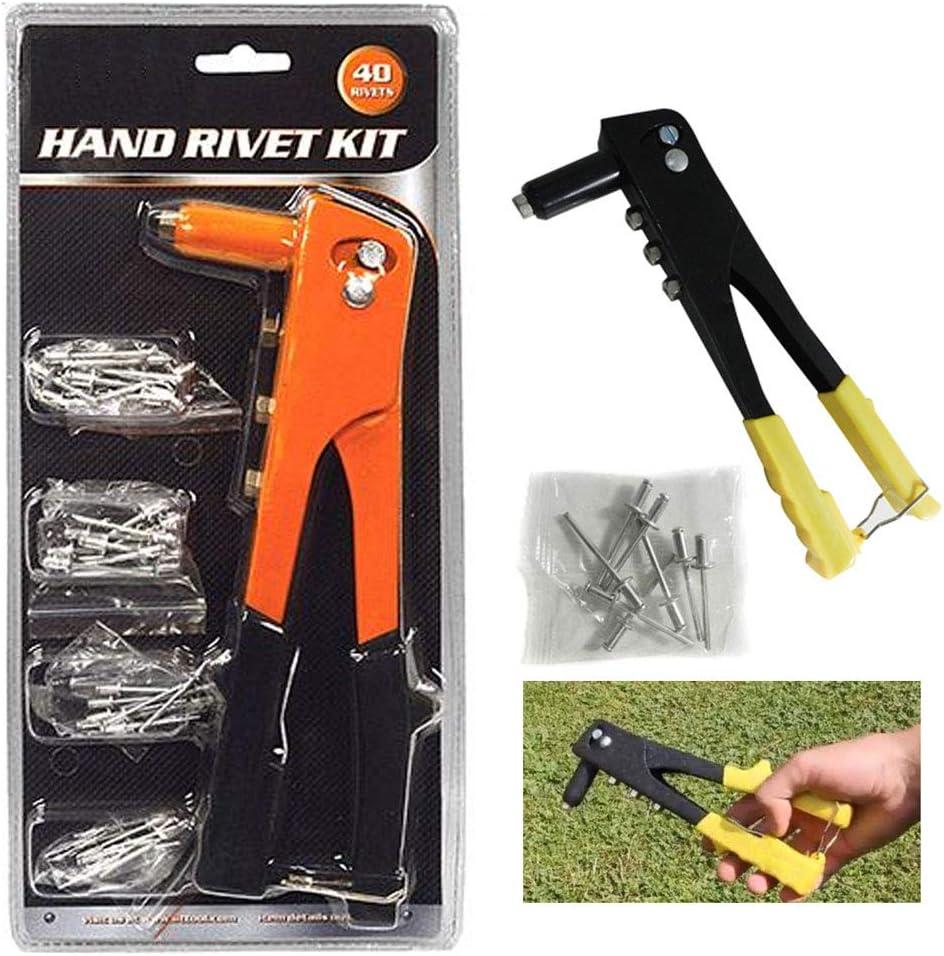 Professional Pop Rivet Gun+140 Rivets Heavy Duty Hand Repair Tools Riveter Set