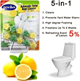 Automatic Toilet Bowl Cleaner Rim Hanger Lemon 2 pcs (Pack of 3) with Stronger Long-Lasting Lemon Scent at Full 5%. Foaming 5-in-1 Cleaner Deep Cleans With Every Flush