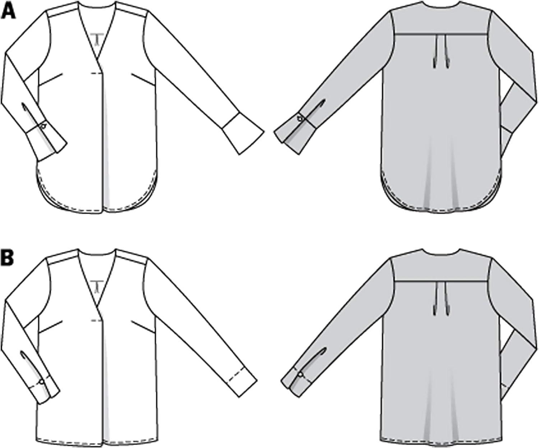 ideale per esperti da cucire Donna 36-46 Burda Cartamodello 6278 per camicette L3