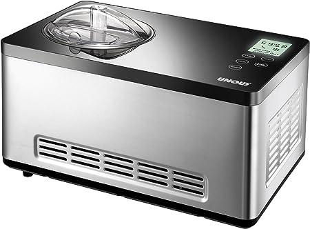 UNOLD 48845 Edelstahl Eismaschine Gusto 2,0 Liter Eiscreme NEU