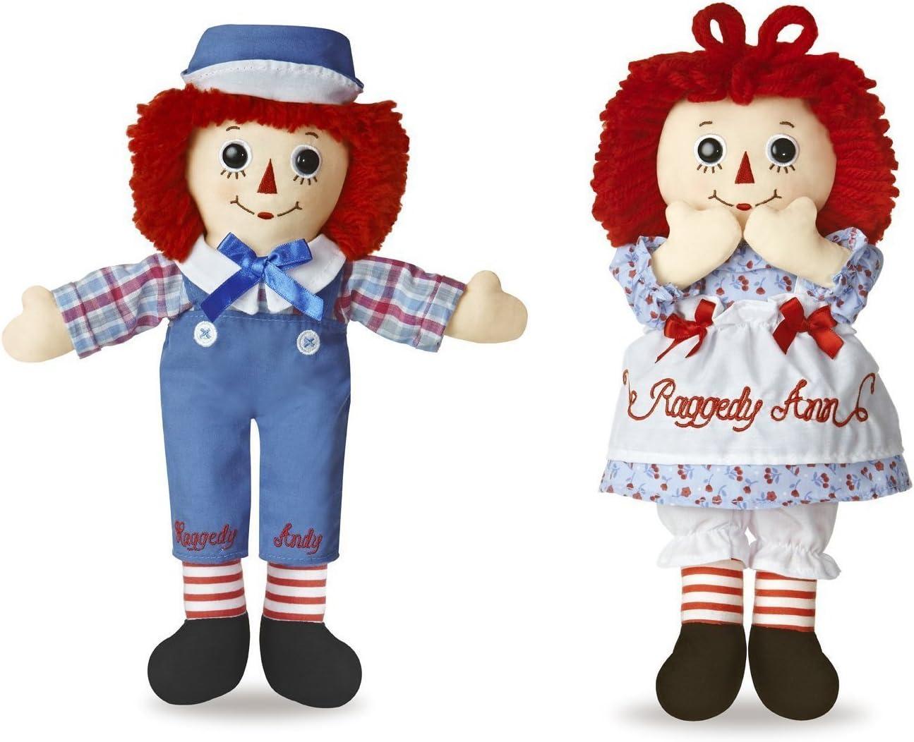 Aurora Bundle of 2 Dolls - 12'' Raggedy Ann & Raggedy Andy