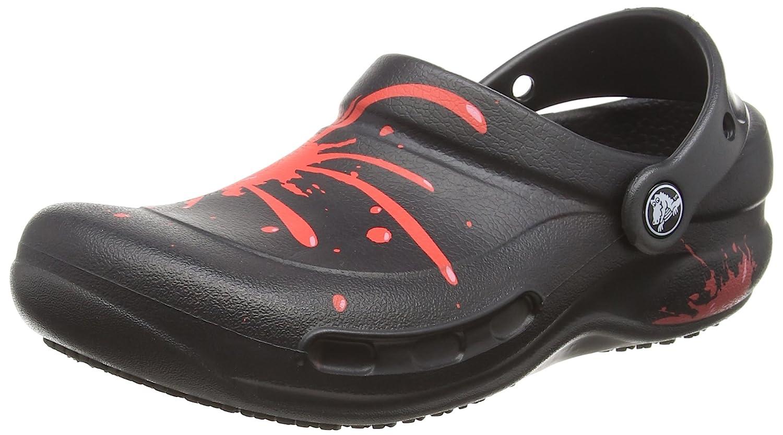 Crocs Bistro Graphic Clog, Zuecos Unisex Adulto 41/42 EU|Negro (Black/Pepper)