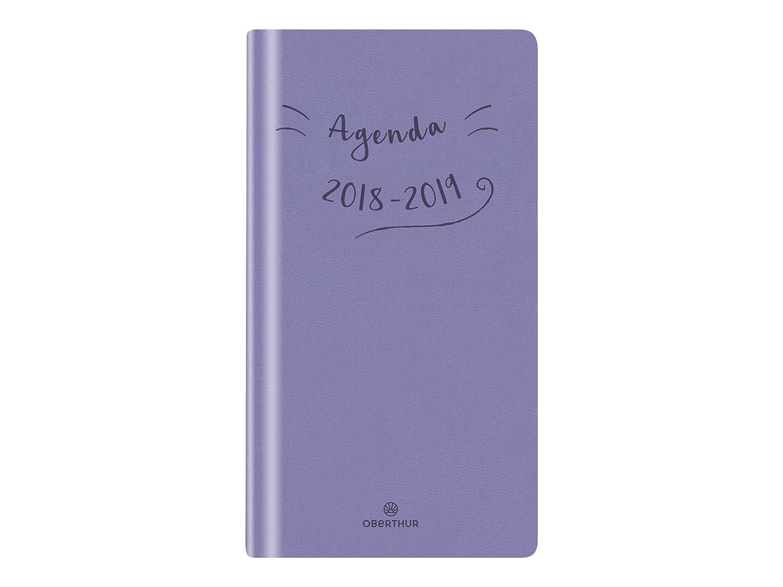 Oberthur - 1 Agenda Semainier de Poche CAMELIA 16 - Septembre 2018 à Septembre 2019-9 x 16 cm - 4 coloris au choix 844165