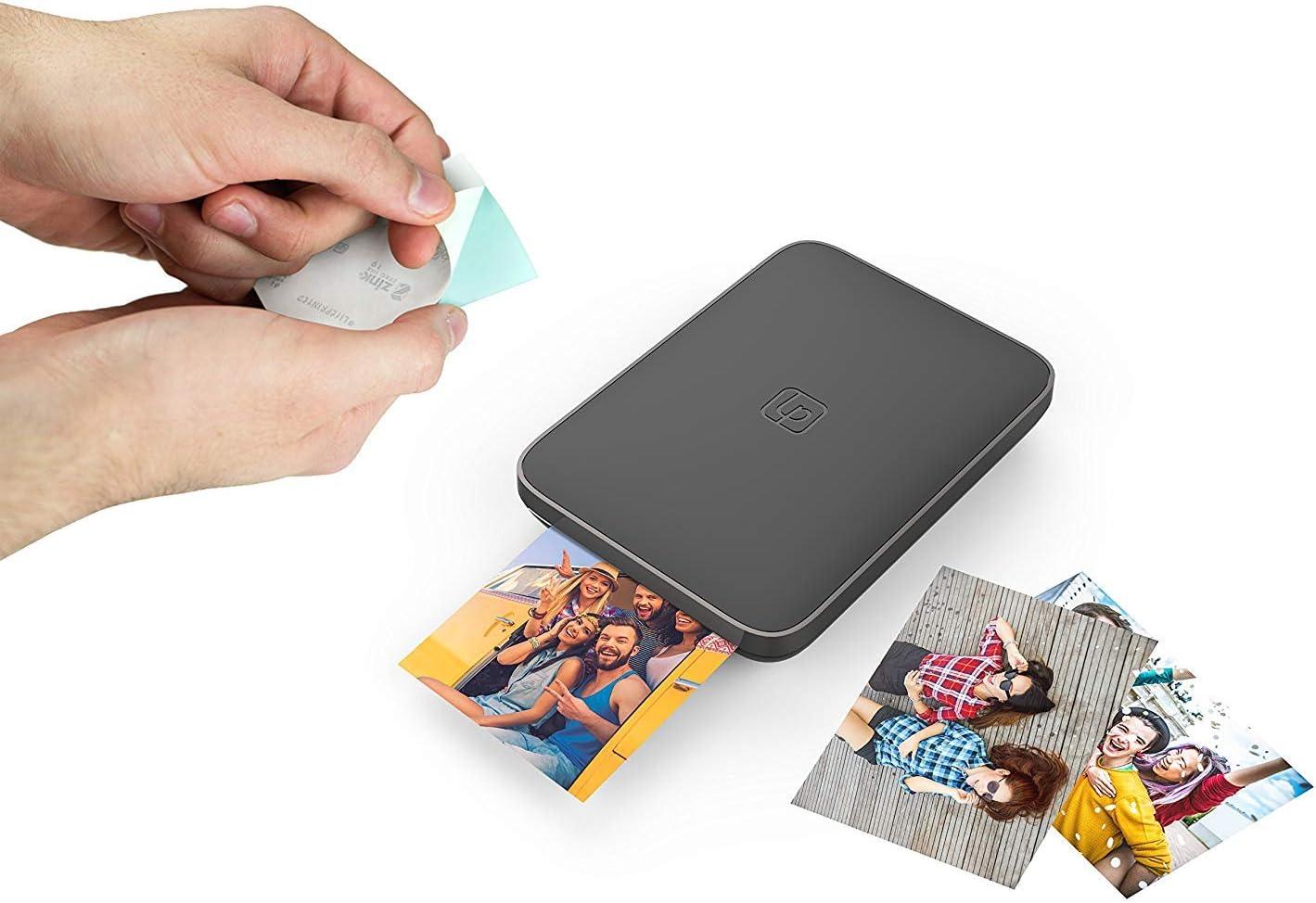 und Videodrucker Lifeprint 3x4.5 tragbarer Foto Schwarz Starter Kit