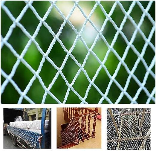 Red De Protección De Escaleras Malla De Valla para Balcón Infantil Anti-caída Jardín De Infancia Nylon Casa Al Aire Libre Escalera Balcón Niños Ball Stop Planta De Barrera De Jardín Blanco: Amazon.es: