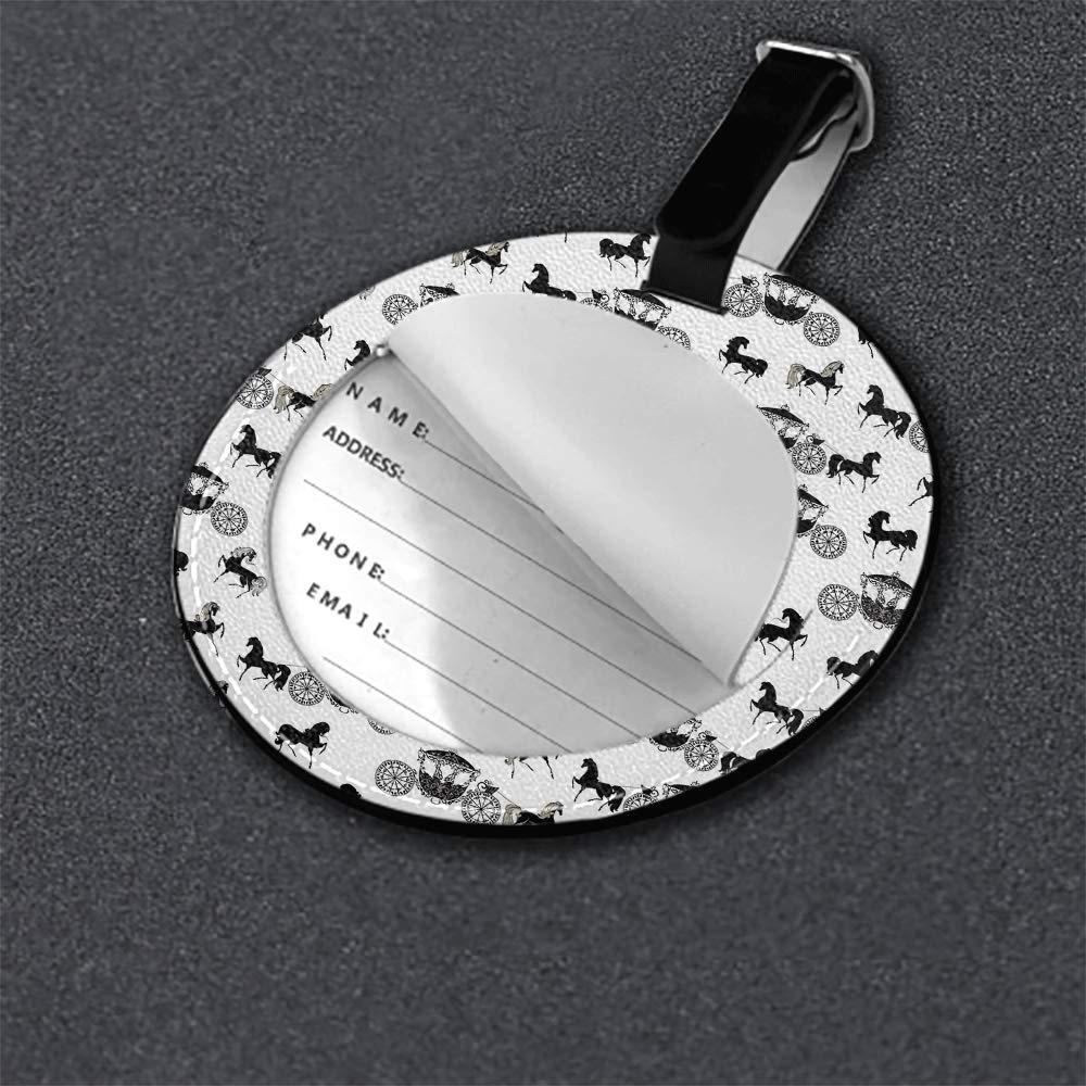 Microfiber PU leather Round luggage tag 1 pcs,2 pcs,4pcs