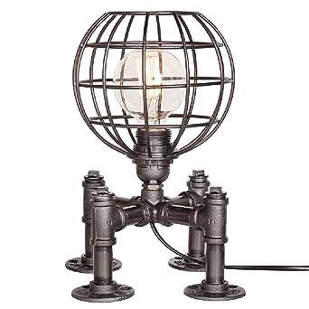 Fer Industriel Steampunk Rétro De Forgé Poser D'eau Lampe En Métal Table Edison Lampes Antique Bureau Socle Loft À Pour Vintage Conduite thQrdCs