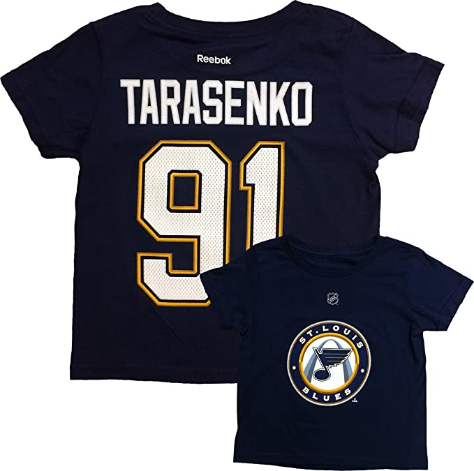best website c651d 44ac8 Amazon.com: Vladimir Tarasenko St. Louis Blues #91 Navy ...