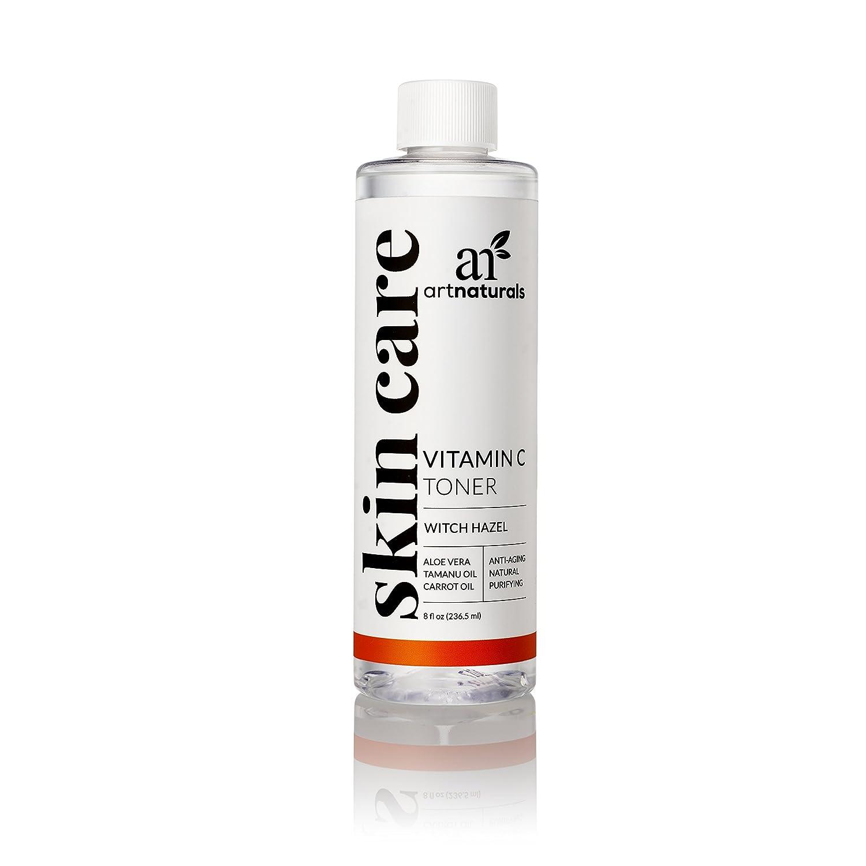 ArtNaturals Tónico Facial Hidratante de Vitamina C - 237ml - Ingredientes Orgánicos Como El Aloe Vera, Hamamelis, Árbol Del Té Y MSM.
