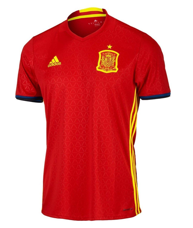 adidas Spain Home Jersey UEFA EURO 2016 /サッカーユニフォーム スペイン ホーム用 2016 B01G9HAESK  Small