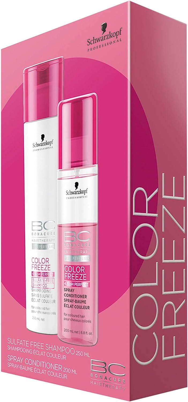 Schwarzkopf bonacure freeze pack (champú sin sulfatos+ spray): Amazon.es: Belleza