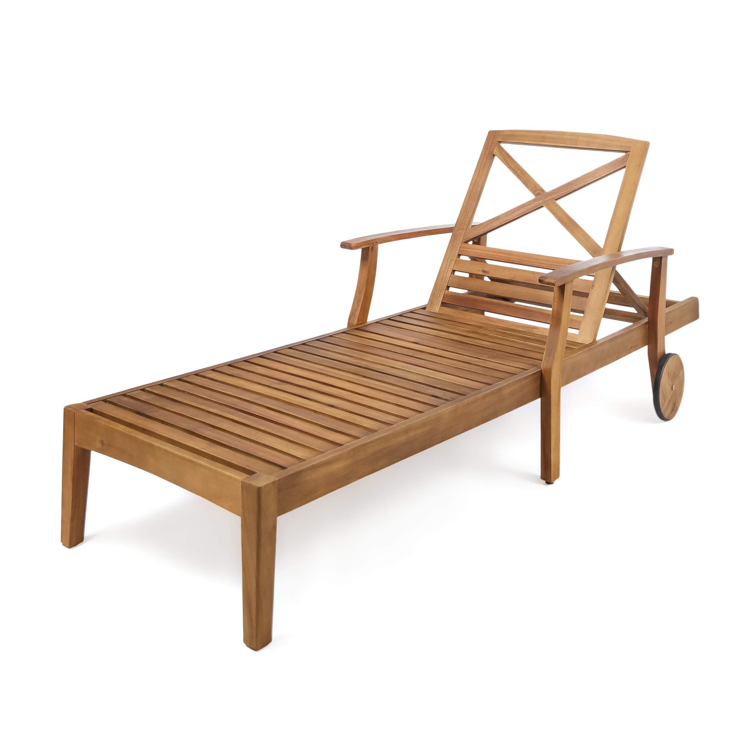 - Great Deal Furniture Thalia Outdoor Teak Finished Acacia Wood