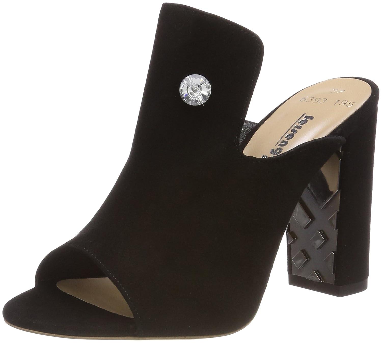 TALLA 38 EU. Fersengold Zapatos de tacón con Punta Abierta para Mujer
