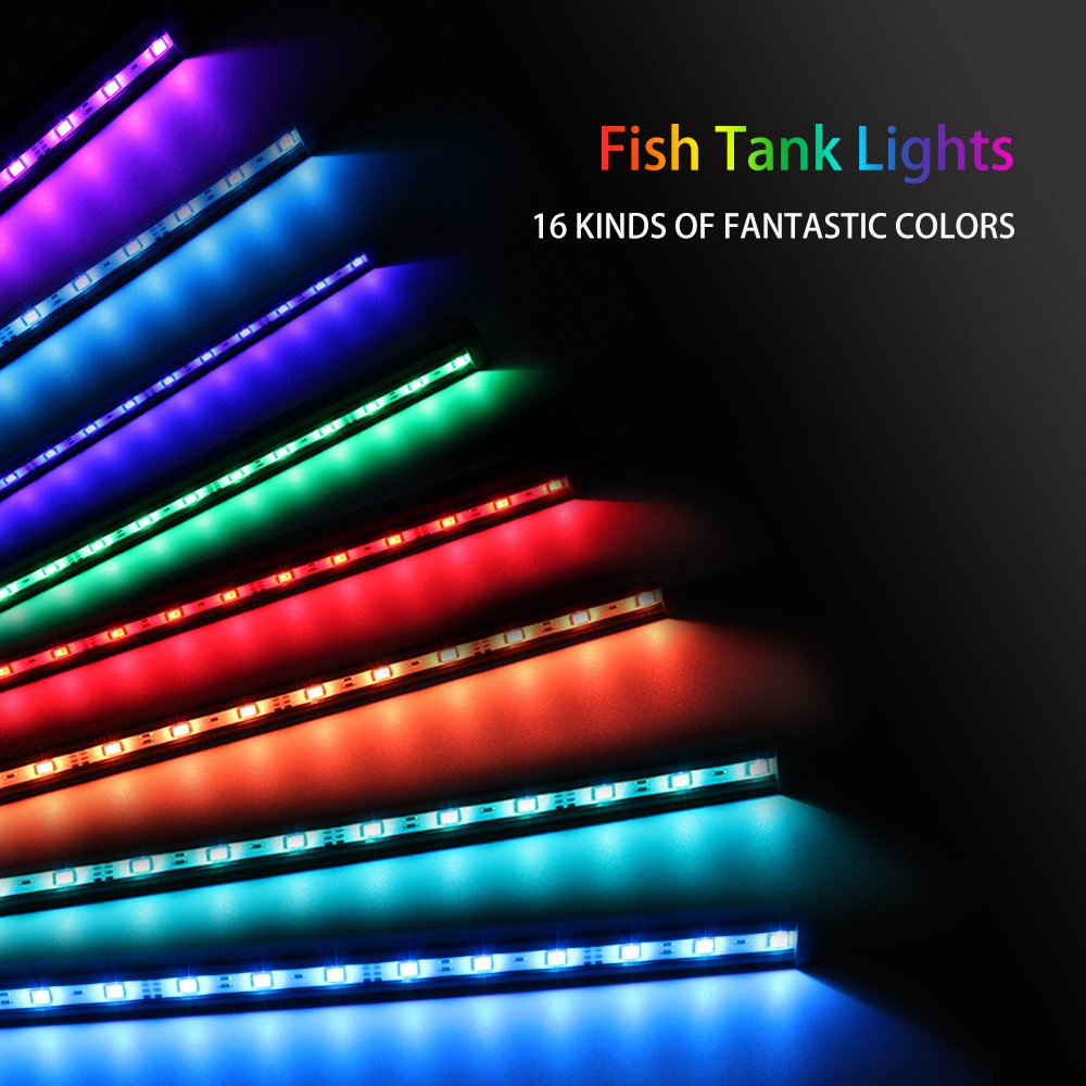 NEWNEN Fish Tank Light Waterproof Aquarium Lights Remote Control ...